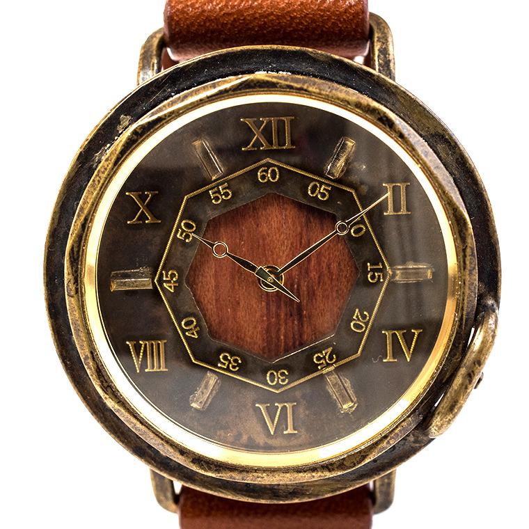 メンズ アンティーク調腕時計 ブビンガ 木目 天然素材 ハンドメイド ウォッチ 日本製 メイドインジャパン