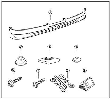 丰田帕苏丰后保险杠扰流板零件纯正配件配件可选扰流板