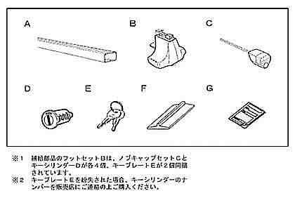 正牌的NCP81 NCP85 surishisutemurakkubesurakku(屋顶开型)零件丰田纯正零部件基础履历屋顶载体基底履历屋顶履历sienta选项配饰用品