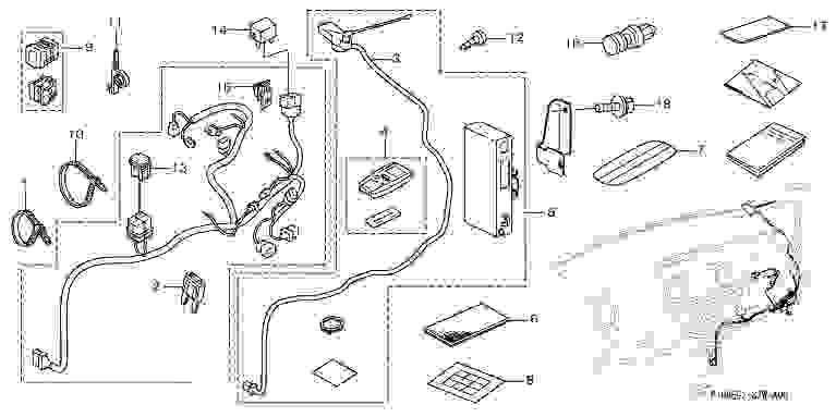 正牌的RK1 RK2 RK5 RK6遥控引擎启动器零件本田纯正零部件STEPWGN选项配饰用品