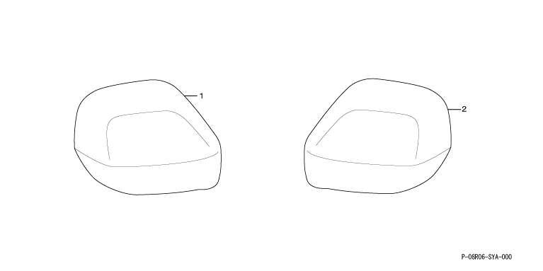 Zest 镜盖左和右设置本田纯正配件 ゼストパーツ 部分真正本田本田真正本田零部件选项后视镜罩