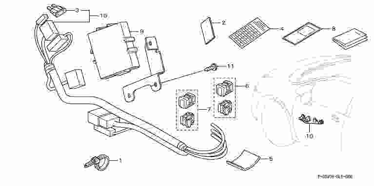 [hody045] Odyssey Reverse Interlocking / Retractable Mirror System * Mirror  Body Is Not Honda Genuine Parts Odyssey [rb3 Rb4, Part Genuine Honda Honda  ...