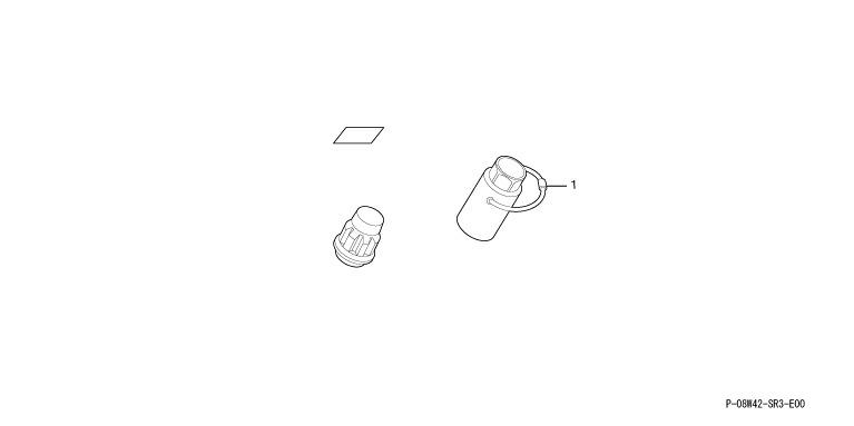 供纯正的ZE2 ZE3 Modulo铝轮罩使用的轮罩自锁螺帽4种安排零件本田纯正零部件失窃防止安全insight选项配饰用品