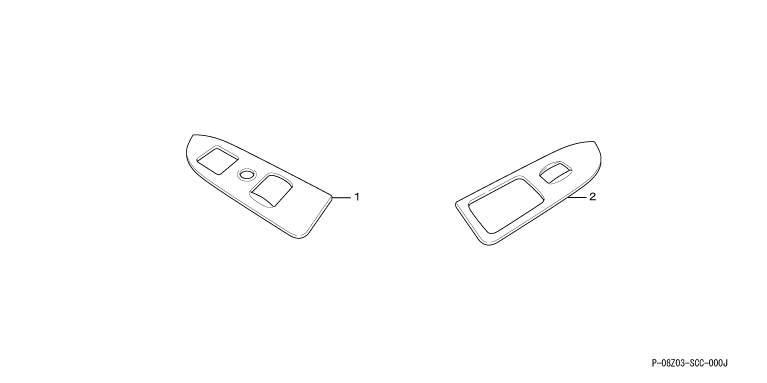 正牌的GB1GB2门开关面板(金属风格)零件本田纯正零部件装修bezerupawauindopaneru Mobilio选项配饰用品