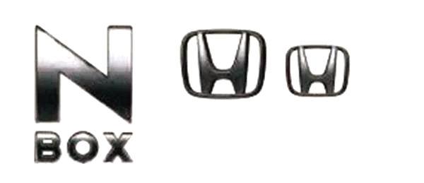 『N-BOX』 純正 JF3 JF4 ブラックエンブレム N-BOX用 パーツ ホンダ純正部品 メッキ ドレスアップ ワンポイント オプション アクセサリー 用品