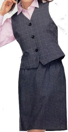 ベスト+タイトスカートセット クロスタイプのベックベルトでウエストラインもすっきり!事務服 オフィス ユニフォーム FV3046-2/FS4052-2 事務 制服 ユニホーム ビジネス オフィス 仕事着 オフィスウェア レディース ベストスーツ 事務制服 スカート 受付