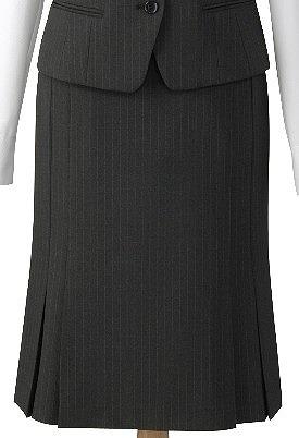 トリクシオンピンストライプグレーのスカート/cressai(セロリー)/事務服・制服におすすめ/大きいサイズあります|事務 ユニフォーム ユニホーム ビジネス オフィス 企業制服 仕事着 オフィスウェア 事務制服 スカート 制服専科