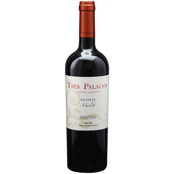 お酒 お中元 ギフト メルロ レゼルブ / ビーニャ・トレス・パラシオス 赤 750ml 12本 チリ マイポ・ヴァレー 赤ワイン コンビニ受取対応商品 ヴィンテージ管理しておりません、変わる場合があります プレゼント ケース販売 送料無料
