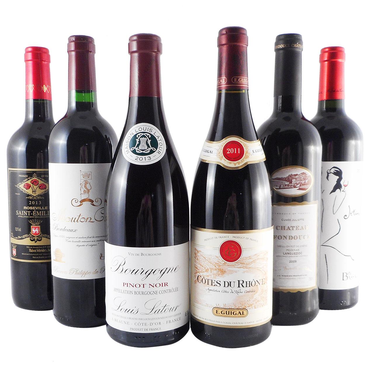 【ラッキーシール対応】母の日 ギフト ワインセット フランス 赤ワイン フルボディ チーズと楽しむ 6本セット 赤ワイン 送料無料 コンビニ受取対応商品 飲み比べセット
