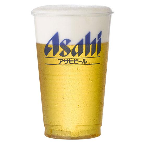 【ラッキーシール対応】母の日 ギフト アサヒビール 透明ポリコップ 420ml アサヒビールロゴ入 1000個入り アサヒビール 備品 プラコップケース販売