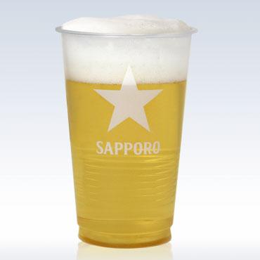 【ラッキーシール対応】母の日 ギフト 透明ポリコップ 420ml サッポロロゴ入り 1000個入り サッポロビール 備品 プラコップケース販売