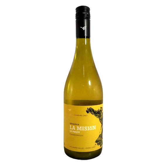 【ラッキーシール対応】母の日 ギフト ラ・ミシオン シャルドネ (ウィリアム・フェーヴル) 白 750ml 12本 チリ マイポヴァレー 白ワイン コンビニ受取対応商品 ヴィンテージ管理しておりません、変わる場合があります