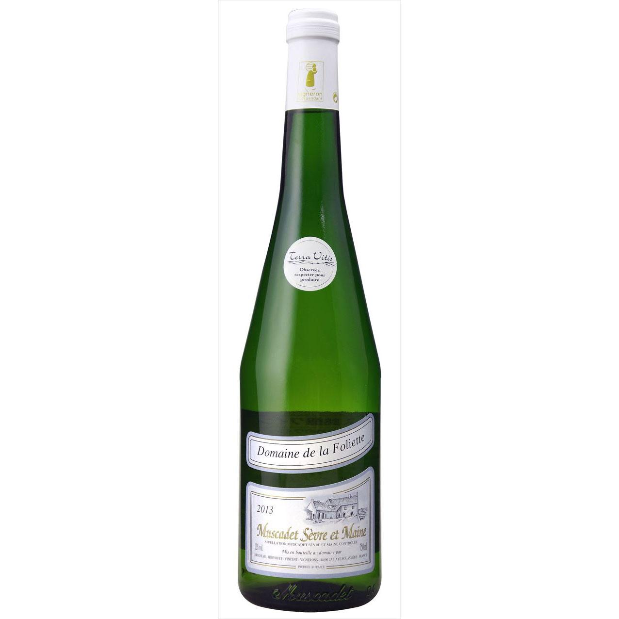 【ラッキーシール対応】お歳暮 ギフト ミュスカデ セーヴル エ メーヌ Dom.ド ラ フォリエット  ドメーヌ ド ラ フォリエット 白 750ml 12本 フランス ロワール 白ワイン 送料無料 コンビニ受取対応商品 ヴィンテージ管理しておりません、変わる場合があります