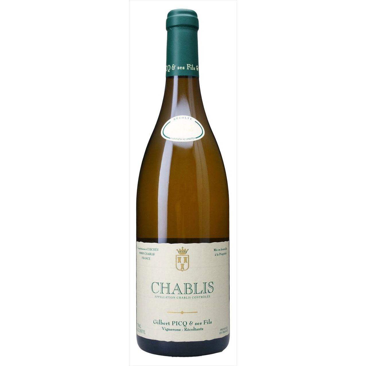 父の日 プレゼント ギフト シャブリ ジルベール ピク エ フィス 白 750ml 12本 フランス シャブリ 白ワイン 送料無料 コンビニ受取対応商品 ヴィンテージ管理しておりません、変わる場合があります ラッキーシール対応