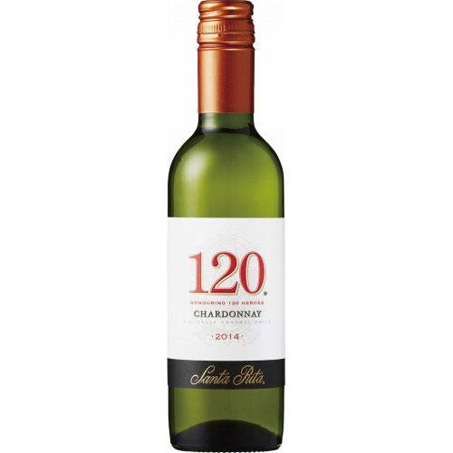【ラッキーシール対応】お歳暮 ギフト サンタ・リタ 120(シェント・ベインテ)シャルドネ 375ml 24本 チリ サッポロビール 白ワイン ケース販売 コンビニ受取対応商品 送料無料 ヴィンテージ管理しておりません、変わる場合があります