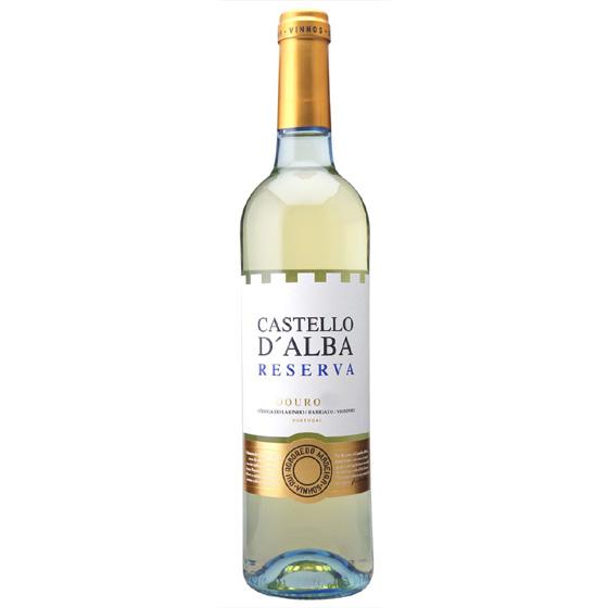 お酒 お中元 ギフト レゼルヴァ ドウロ・ブランコ / カステロ・ダルバ 白 750ml 12本 ポルトガル ドウロ 白ワイン コンビニ受取対応商品 ヴィンテージ管理しておりません、変わる場合があります プレゼント ケース販売 送料無料