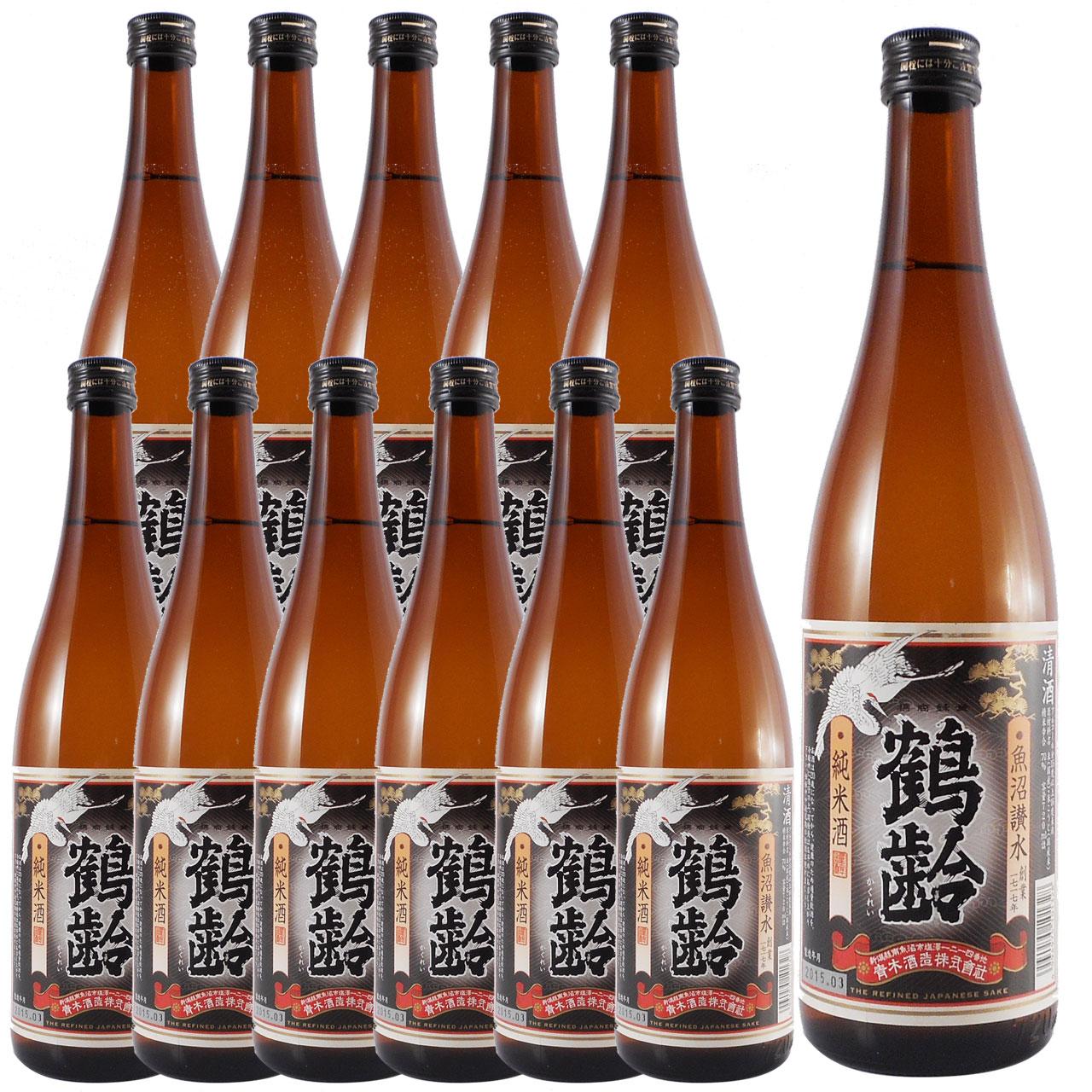 父の日 プレゼント ギフト 鶴齢(かくれい) 純米 720ml 12本ケース販売 新潟県 青木酒造 日本酒 代引き手数料無料 ラッキーシール対応