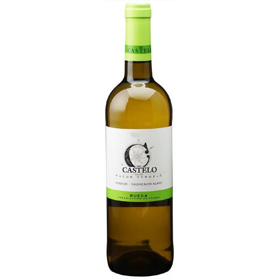お酒 父の日 ギフト カステロ ルエダ ベルデホ / カステロ・デ・メディナ 白 750ml 12本 スペイン ルエダ 白ワイン コンビニ受取対応商品 ヴィンテージ管理しておりません、変わる場合があります プレゼント ケース販売 送料無料