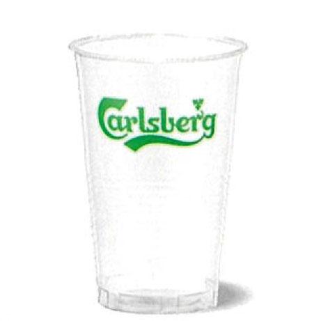 お歳暮 ギフト ポリコップ 400ml カールスバーグ ロゴ入り 1000個入り サントリー 備品 プラコップ Carlsbergケース販売 送料無料 ラッキーシール対応
