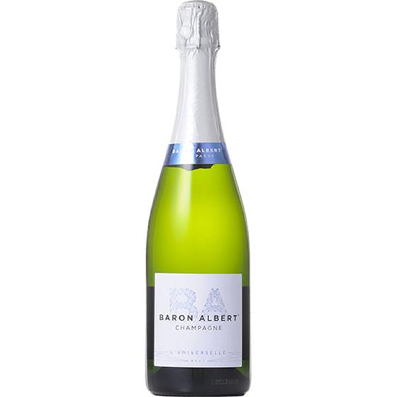お中元 ギフト シャンパーニュ・バロン・アルベール リュニヴェルセル 白 750ml 12本 フランス シャンパーニュ シャンパン コンビニ受取対応商品 ヴィンテージ管理しておりません、変わる場合があります プレゼント ケース販売 送料無料