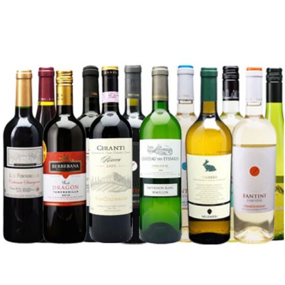 【ラッキーシール対応】母の日 ギフト 選べる ワインセット 都内レストラン人気ワイン12本セット 赤ワイン 白ワイン フランス イタリア スペイン チリ送料無料 稲葉ワインコンビニ受取対応商品