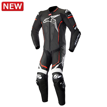 アルパインスターズ GP PLUS 2 LEATHER SUIT 1231 BLACK WHITE RED FLUO 50サイズ (923152)