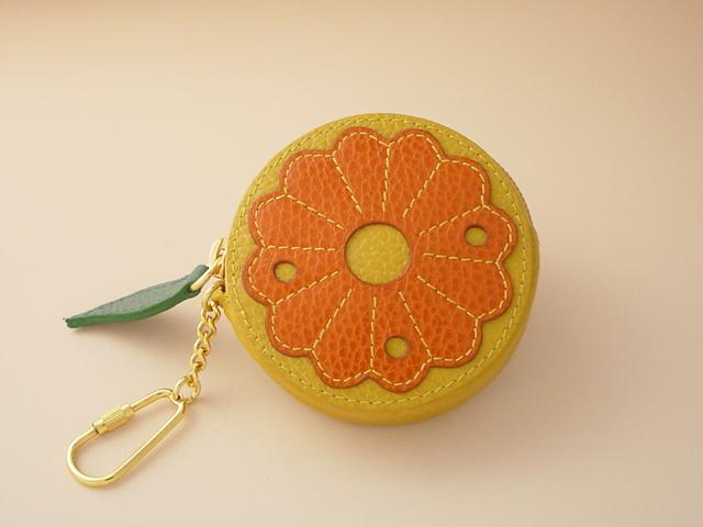 買収 フルーツ小物入れ オレンジ 本物