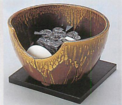 ヤマキ製電熱式紅鉢信楽
