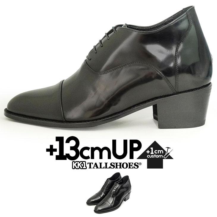 シークレットシューズ 背が高くなる靴 ビジネスシューズ メンズ 紳士靴 ビジネス ストレートチップ 内羽根 トールシューズ 3E 紐 通気性 本革 黒 【商品番号:KK1】
