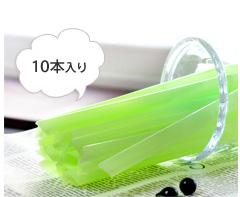 タピオカドリンク用の極太ストロー 新品 シェイクやフローズンにも使えます タピオカストロー 100%品質保証 パールミルクティー用ならコレ タピオカドリンク 10本