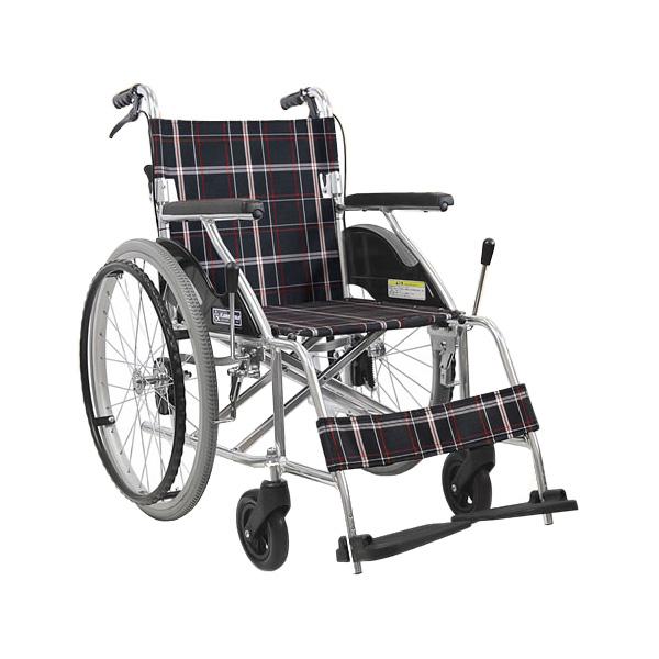 車椅子 軽量 折り畳み アルミ折りたたみじそうノーパンクタイヤ車椅子カルらくバリュー (車椅子 車いす 車イス 送料無料 自走用 折り畳み 折りたたみ)【敬老の日 プレゼント ギフト】