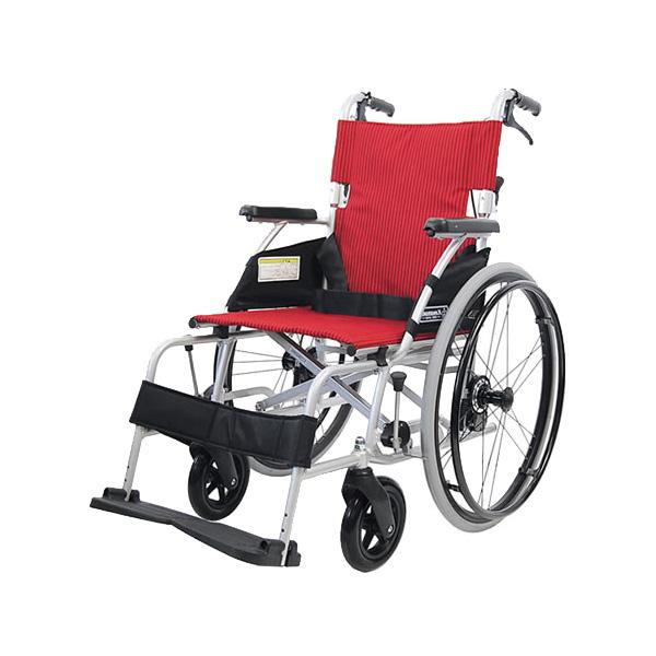車椅子 軽量 折り畳み アルミ軽量折りたたみ自走式車いす カルラク3(ノーパンクタイヤ)【SGマーク認定商品】( 送料無料 カワムラサイクル  折りたたみ 介護 介助用)