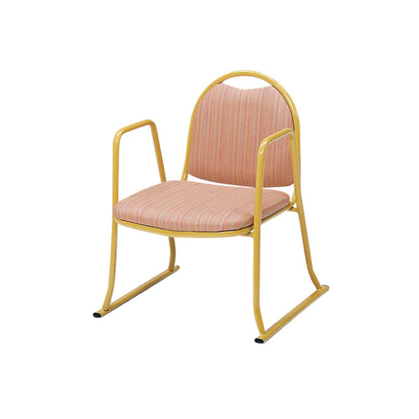 高座椅子 背付・肘付スタッキングチェア (介護用品 老人 高齢者 シニア お年寄り 施設用品 デイサービスデイケア 病院医院 老人ホーム)