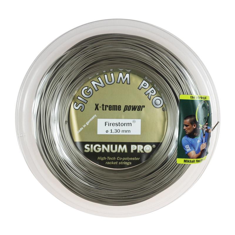 シグナムプロ ファイヤーストーム(120/125/130) 200Mロール 硬式テニス ポリエステル ガット (Signum Firestorm 200m roll strings)
