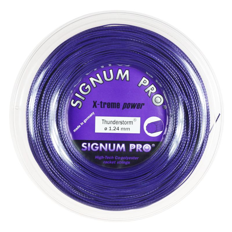 シグナムプロ サンダーストーム(124/130) 200Mロール 硬式テニス ポリエステル ガット (Signum Thunderstorm 200m roll strings)