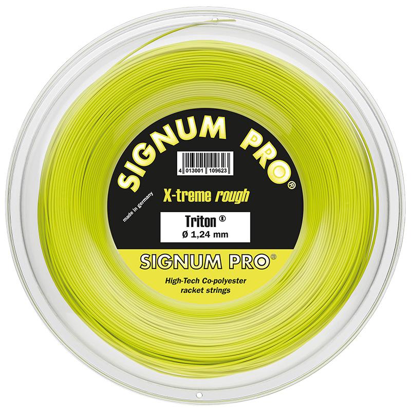 シグナムプロ トリトン(1.18/1.24/1.30mm) 200Mロール 硬式テニス ポリエステル ガット Signum Pro Triton 200m roll strings