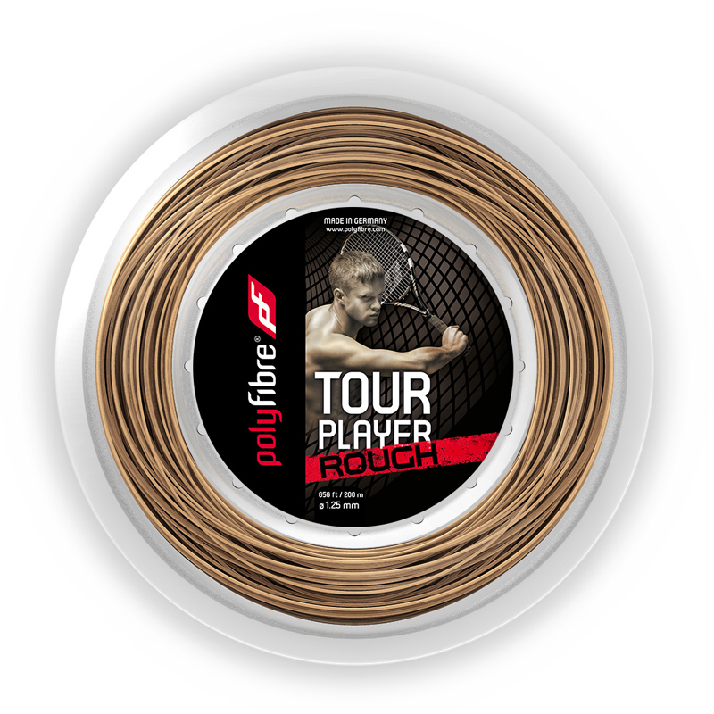 ポリファイバー ツアー プレイヤー ラフ(1.25mm)200Mロール硬式テニスガット ポリエステルガット(Polyfibre Tour Player Rouch 16L/1.25 String)【2015年8月発売】