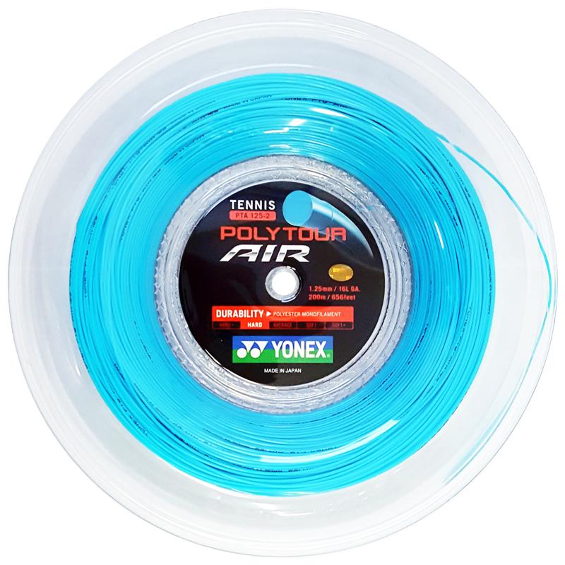 ヨネックス ポリツアー エアー 200Mロール(1.25mm) 硬式テニスガット ポリエステルガット(YONEX POLY TOUR AIR 200M Reel)【2016年11月登録】