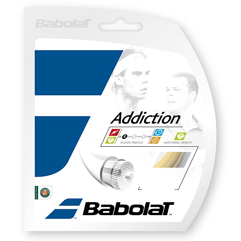 【12Mカット品】バボラ アディクション(125/130)硬式テニス マルチフィラメント ガット (Babolat addiction) 241078/241115