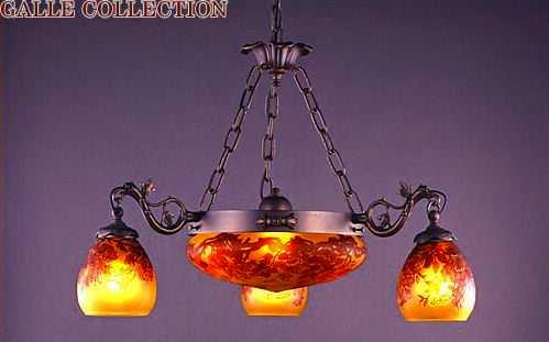 【送料無料】 AGL-0216DB-3353 アカネライティング・ガレコレクション GALLE COLLECTION ガレ・コレクション WISTARIA(藤) 6灯シャンデリア ダークブロンズ