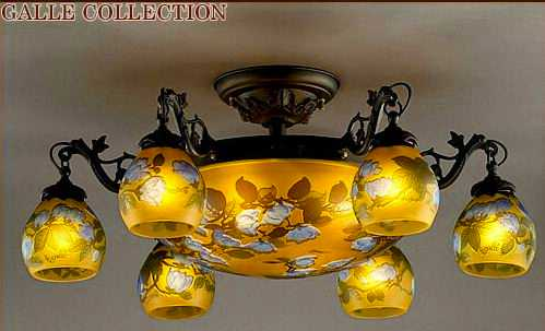 AGL-1423DB-3242 アカネライティング・ガレコレクション GALLE COLLECTION ガレ・コレクション MAGNOLIA(木蓮) 10灯シャンデリア ダークブロンズ