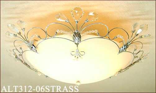 ALT312-06STRASS アカネライティング スワロフスキー&クローム 6灯用シーリングライト  [白熱灯][6~8畳]