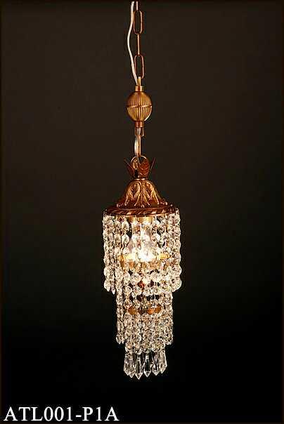 ATL001-P1A アカネライティング トルコイスタンブール製ガラスビーズ 古美色3段 チェーン吊ペンダント [白熱灯]