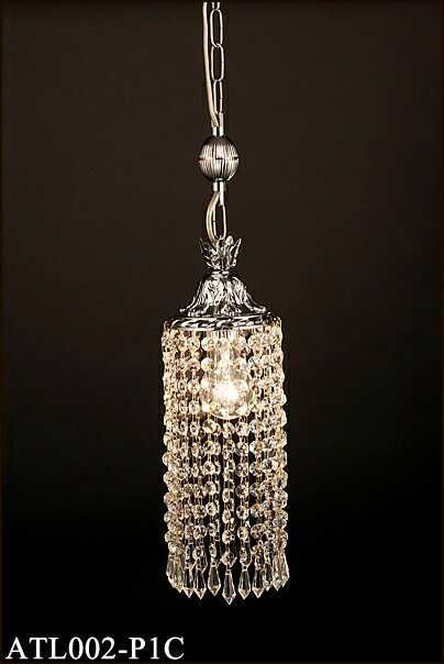 トルコイスタンブール製ガラスビーズ [白熱灯] チェーン吊ペンダント アカネライティング ATL002-P1C クローム1段