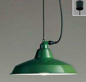 ERP7234G ENDO ファクトリースタイル チェーン吊ペンダント [LED電球色][グリーン]