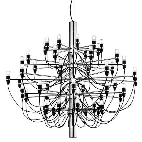 【送料無料】 209750CHR FLOS 2097/50/CHR ワイヤー吊シャンデリア [白熱灯][クローム]
