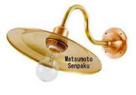 R2S-MR-G 松本船舶 マリンランプ 2S型マリンライト ゴールド ブラケット [LED電球色][ランプ別売]