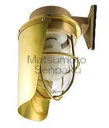 SK-FR-G 松本船舶 遮光シリーズマリンランプ 遮光フランジゴールド アウトドアポーチライト [白熱灯]