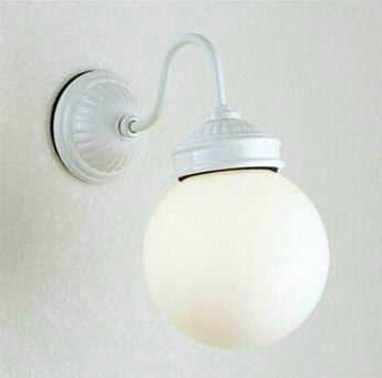MB50338-01-90 マックスレイ 陶器飾り 球体ガラスセード ブラケット [LED電球色][ホワイト]