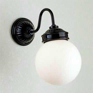 MB50338-01-90 マックスレイ 陶器飾り 球体ガラスセード ブラケット [LED電球色][ブラック]
